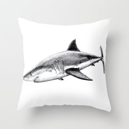 Great white shark (Carcharodon carcharias) Throw Pillow