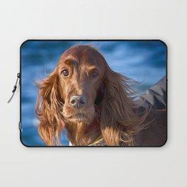 Setter dog on the pier Laptop Sleeve