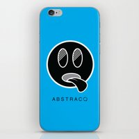 mike wrobel iPhone & iPod Skins featuring MIKE by A B S T R A C Q