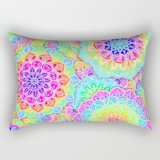 Psychedelic Summer Rectangular Pillow