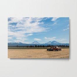 Ranch Truck outside of Sisters, Oregon Metal Print