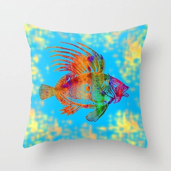 Fish r throw pillow by vitta society6 for Fish throw pillows
