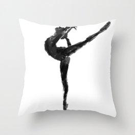 Balanced Ballerina Throw Pillow
