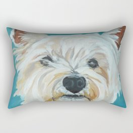 Jesse the Beautiful West Highland White Terrier Dog Portrait Rectangular Pillow