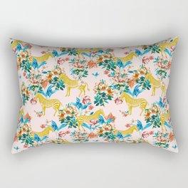 Floral & Zebras Rectangular Pillow