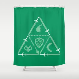 Weapon Triforce Shower Curtain