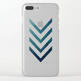 Blue Arrow Clear iPhone Case