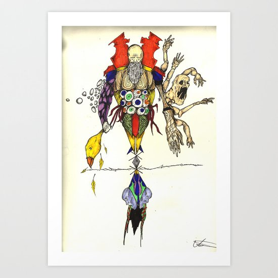 Death Chases Art Print