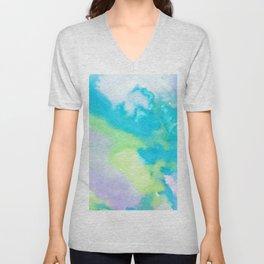 watercolor monsters Unisex V-Neck