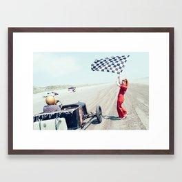 Pendine Sands 3c Framed Art Print