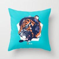 dj Throw Pillows featuring DJ Wildcats by Steven Toang