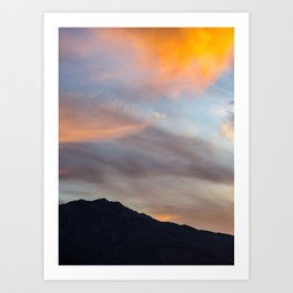 Mount San Jacinto Sunset Clouds Art Print