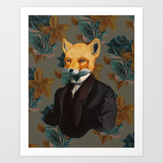 Hey there, Foxy Art Print