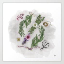 A Florist at Work Art Print
