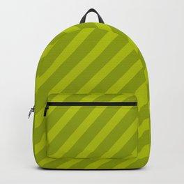 Green Diagonal Stripes Backpack