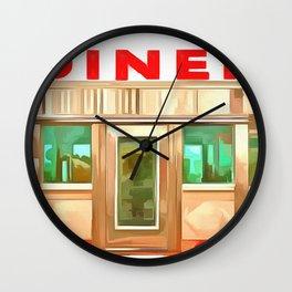 Classic American Diner Wall Clock