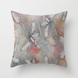 Dragon Fly Gathering Throw Pillow