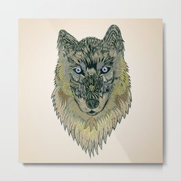 The wolf of your dreams Metal Print