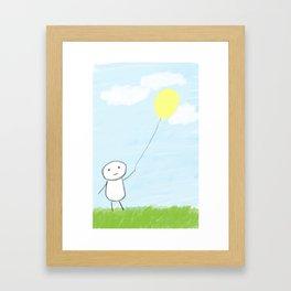 Simple Day  Framed Art Print