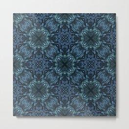 flowing lines pattern 2 Metal Print