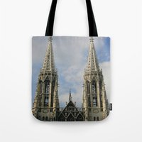 vienna Tote Bags featuring Vienna by Kim Ramage