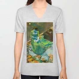 "Edgar Degas ""Before the Curtain Call"" Unisex V-Neck"