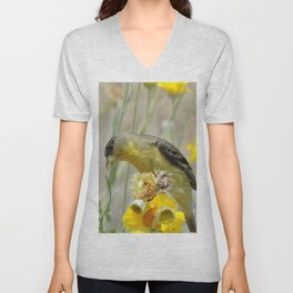 Feasting Finch Unisex V-Neck