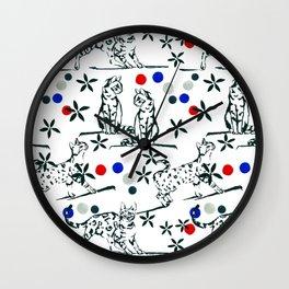 Cat Muse Wall Clock