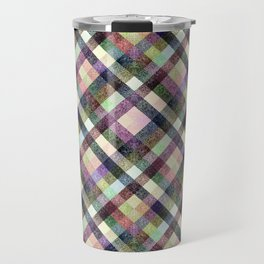 Multi - color checkered pattern. Travel Mug