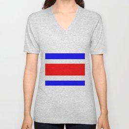 Flag of Costa Rica Unisex V-Neck