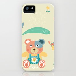Happy Kuma-chan iPhone Case
