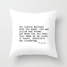 Typewriter Thoughts #3 - The Leaves Throw Pillow