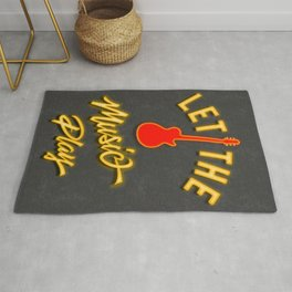 Neon Let the Music Play Rug