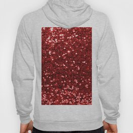 Abstract elegant red chic faux glitter pattern Hoody