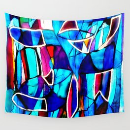 Blue Love Wall Tapestry