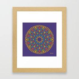 Bienvenida a Marte (Violeta) Framed Art Print