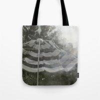 umbrella Tote Bags featuring Umbrella by Anja Hebrank