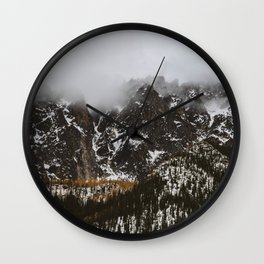 larches on the mountain Wall Clock