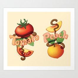 Peachy Tomato Art Print