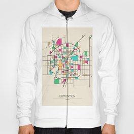 Colorful City Maps: Edmonton, Canada Hoody