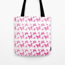Vintage cute pink watercolor butterflies pattern Tote Bag