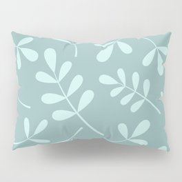 Assorted Leaf Silhouettes Teals Pillow Sham