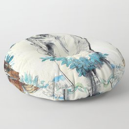 The First Costume, La Premiere Mode - Sir William Orpen Floor Pillow