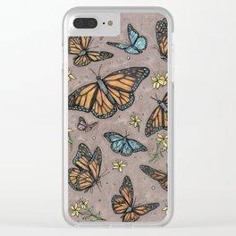 monarch butterflies. Clear iPhone Case