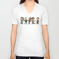 1d V-neck T-shirts featuring Schulz 1D Coffee Run by Ashley R. Guillory