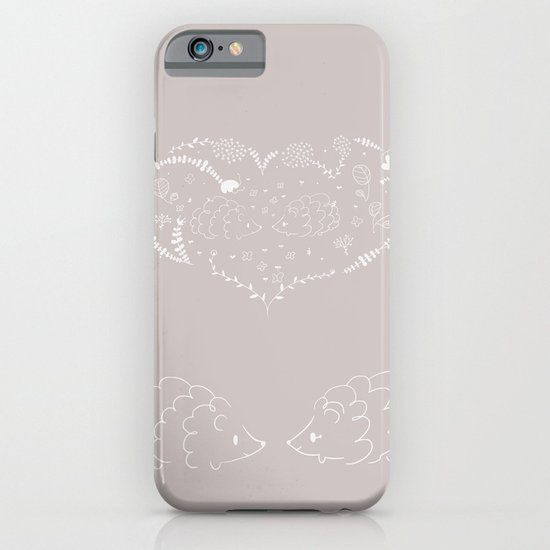 Hedgehogs in love iPhone & iPod Case