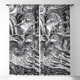 Silver Ammonite 1 Amazing Fractal Blackout Curtain