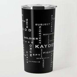 Order of the MoonStone Word Puzzle Travel Mug