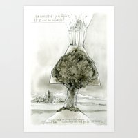 Volcano tree Art Print