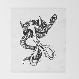 Snip or Die Throw Blanket